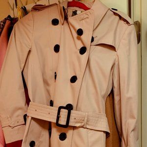 Burberry pink trench coat